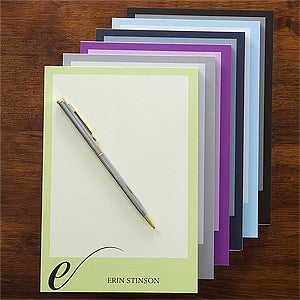 Personalized Stationery Notepad - Stylish Monogram - 12264