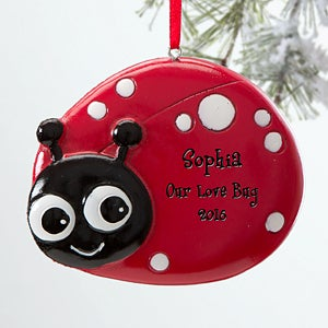 Personalized Christmas Ornaments for Girls - Ladybug - 12274