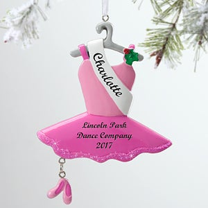 Girls Personalized Christms Ornaments - Ballerina - 12285