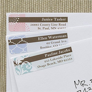Personalized Return Address Labels - Trendy Signature - 12292