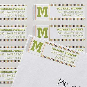 Personalized Return Address Labels - Stylish Stripes - 12294