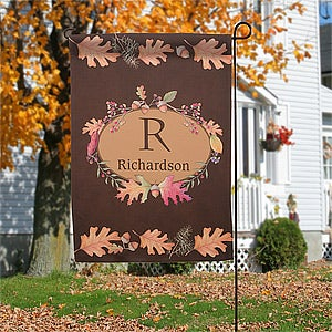 Personalized Fall Garden Flag - Autumn Leaves - 12308