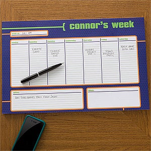 Personalized Desk Pad Calendars For Men His Weekly Agenda 12311