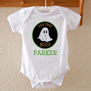 Personalized Baby Halloween Clothes - Ghost - 12313