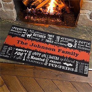 Halloween Words Personalized Doormats - 12314