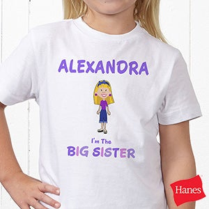 Personalized Girl Cartoon Character Clothes - I'm The Sister - 12315