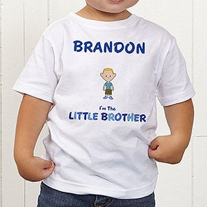 Personalized Boy Cartoon Character Clothes - I'm The Brother - 12316