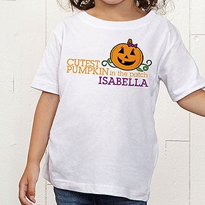 Personalized Halloween Kids Clothes - Cutest Pumpkin - 12327