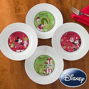 Personalized Disney Christmas Plates - Mickey Minnie Goofy Donald Duck - 12331 & Personalized Disney Christmas Plates - Mickey Minnie Goofy Donald ...