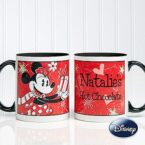 Personalized Christmas Coffee Mugs - Minnie Mouse