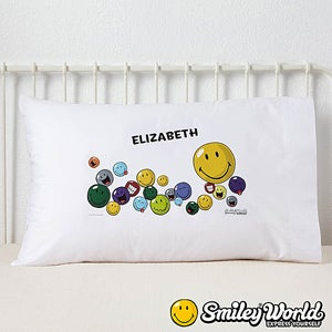 Personalized Smiley Face Pillowcases - 12339