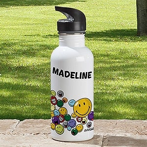 Personalized Water Bottles - Smiley Face - 12340