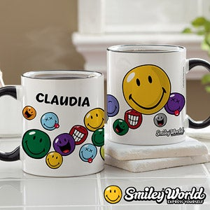 Personalized Smiley Face Mugs - 12348