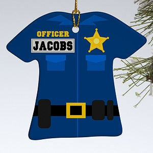 Personalization Mall Personalized Christmas Ornaments - Police Uniform at Sears.com