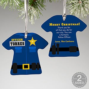 Personalized Christmas Ornaments - Police Uniform - 12373