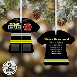 Personalized Christmas Ornaments - Firefighter Uniform - 12374