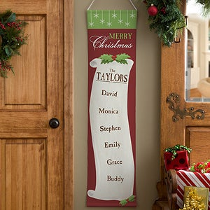 Personalized Christmas Banners - Family Christmas List - 12378