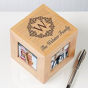 Personalized Photo Cube - Damask Family Monogram  - 12381