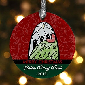 Personalized Christmas Ornaments - God Is Love - 12389