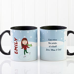 Personalized Holiday Mugs - Ice Skating - 12392