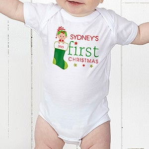 Personalized Baby's First Christmas Clothing - 12395