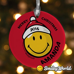 Personalized Christmas Ornaments - Smiley Face - 12404
