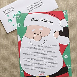 personalized letter from santa santas watching