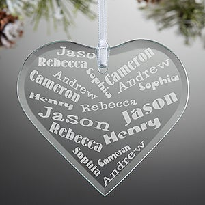 Personalized Christmas Ornaments - Her Heart Of Love - 12413