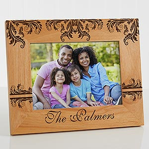 Personalized Family Picture Frames - Damask - 12415