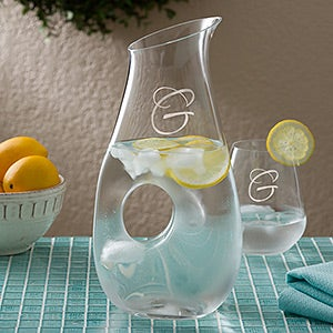 Personalized Drink Pitcher by Lenox - Engraved Monogram - 12418
