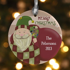 Personalized Santa Claus Christmas Ornaments - 12435