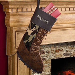 Personalized Christmas Stockings for Hunters - 12449