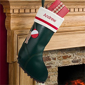Personalized christmas stockings fishing boot 12453 for Fish christmas stocking