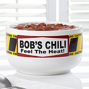 Personalized Chili Bowls - Feel The Heat - 12467