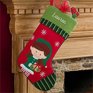 Personalized Kids Christmas Stockings - Santa's Helper - 12472