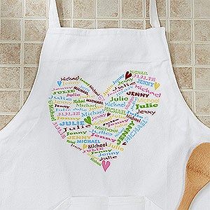 Personalized Aprons - Her Heart Of Love - 12474