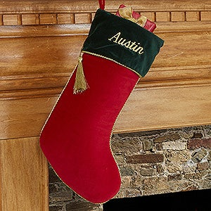 Personalized Christmas Stockings - Velvet - 12476