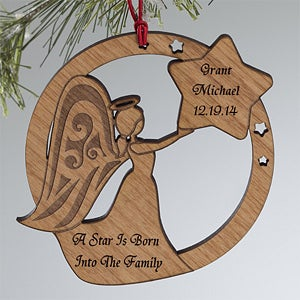 Personalized Angel Christmas Ornaments - Star is Born - 12479
