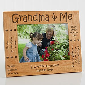 Personalized Grandparents Wood Picture Frame - 1248