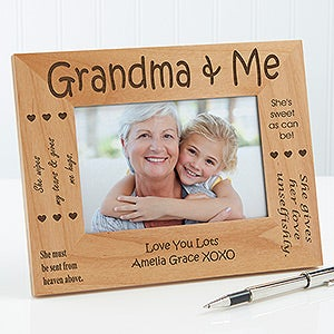 personalized grandparents wood picture frame 1248