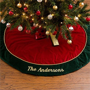 personalized velvet christmas tree skirt