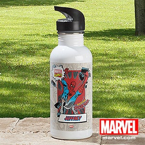 Personalized Marvel Comics Water Bottle - Wolverine, Spiderman, Iron Man - 12488