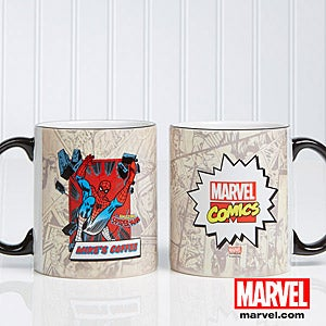 Personalized Superhero Coffee Mugs - Spiderman, Wolverine, Iron Man, Hulk - 12489