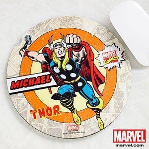Personalized Marvel Superhero Mouse Pads - Spiderman, Wolverine, Iron Man, Hulk - 12490