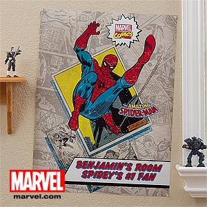 Personalized Marvel Comics Superhero Posters - Wolverine, Iron Man, Spiderman, Hulk - 12497