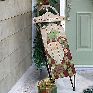 Personalized Christmas Decor Santa Claus Sled