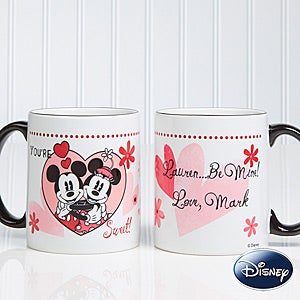 Personalized Mickey Mouse & Minnie Mouse Coffee Mugs - You're Sweet - 12501