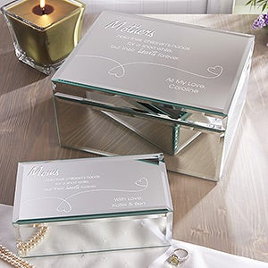 Personalized Mirror Jewelry Boxes - Forever In My Heart - 12508