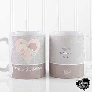 Personalized Couples Romantic Coffee Mugs - Precious Moments - 12511