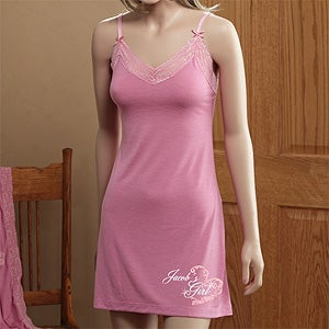 Personalized Chemise with Rhinestones - My Girl - 12516